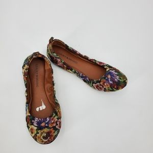 LUCKY BRAND Eleesia floral canvas flats